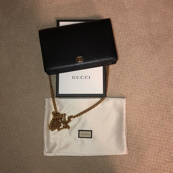 98a75a2d4c8e5 Gucci Handbags - Gucci Marmont leather mini chain bag